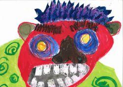 長男4歳の時の鬼さんの絵