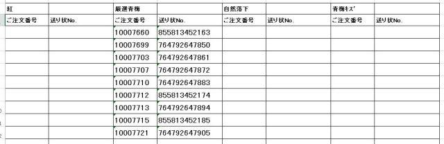 送り状番号 170614-3