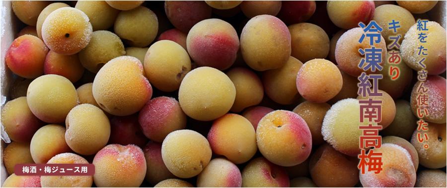 紅南高梅(紀州南高梅)を冷凍にした冷凍梅(平成30年度収穫の紅南高梅)です。梅酒・梅ジュースにお使い下さい。